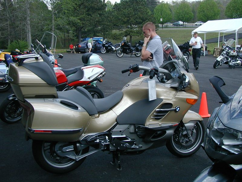 I took my wife for a sedate tour on the K1200LT. (LT for Light Truck.) I like it. I want it. It's B-I-G-G-G!