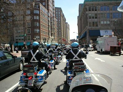 """This motorcade pulled up behind me and said """"We're lookin for a guy on a BMW!"""""""