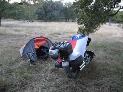 My $17 tent!