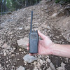 I find this Motorola CP200 radio lying in the trail.  Perhaps it can still work again with some TLC.  New these are just over $400.