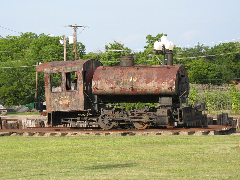 Saddle-tank switching-engine in Hugo OK.  Oddly I've passed it several times but never noticed it until this trip.
