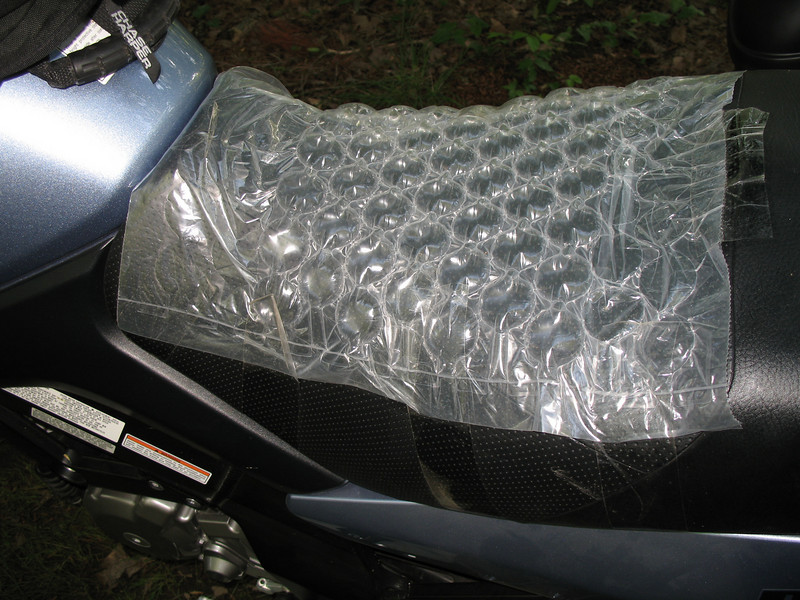 Check out this innovative seat-padding on Don Roberts' Wee-Strom.