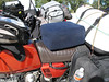 Brad's R65 is a rather small bike- here's one of the comfort-features that makes it tolerable for long-hauls.