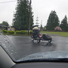 leaving snohomish (washington) on the new to me '77 BMW sidecar rig (thanks kevin!)<br /> emily follows me in the VW