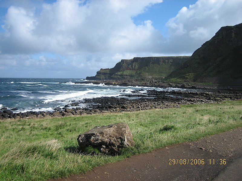 The next day, in N. Ireland, we make our way to Giants Causeway, which is located at the very northern tip of the Province