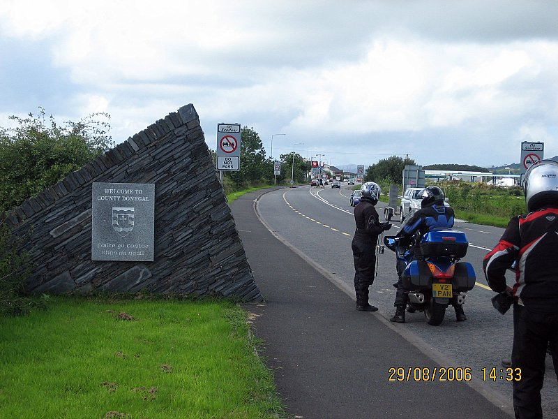 We enter the Republic at the northern end of County Donegal