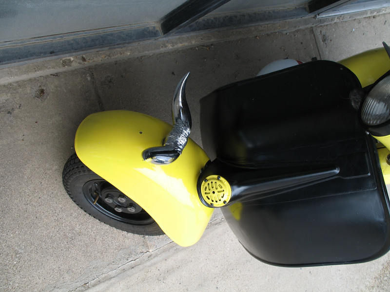 This scooter must belong to a Texas oil man.