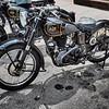 pair of AJS motor bikes