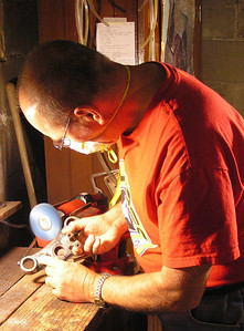 polishing upper fork clamp