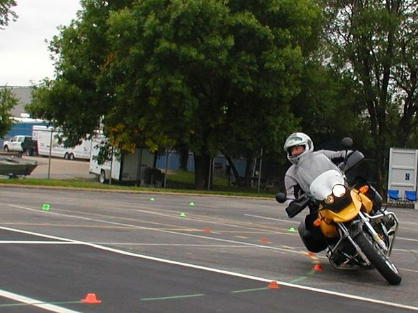 Practicing at Motorcycle Safety Foundation, Experienced Rider Course