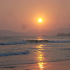 Pismo sunset with wildfire haze in the skies