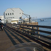 Riding out on Avila Beach Pier for a seafood dinner