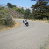 Thad railing down Naciemento Road, which is a fantastic backroad <br /> just South of Lucia near Limekiln Campground.