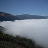 A road up to a Monestery at Lucia gave us this view of the fog along the coast towards Gorda that we just rode through