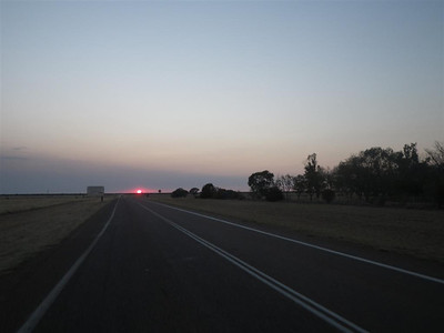 Sunrise leaving Longreach