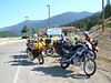 The gang at the US/CA border. Roosville, MT/BC.