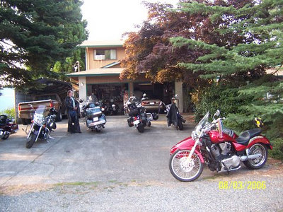 August Destiny Rider BBQ Officers Meeting