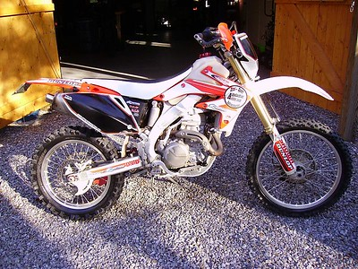 I swapped a tricked out '06 Husky WR250 for this bike.