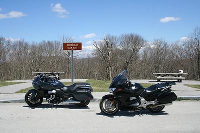 2014 Honda CTX1300 and an ST1300 that was just passing through. Santeetlah Overlook on the Cherohala Skyway. North Carolina
