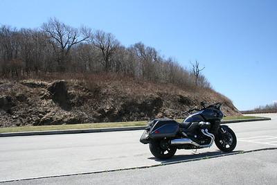 2014 Honda CTX1300 at Santeetlah Overlook on the Cherohala Skyway. North Carolina