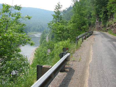 Old railroad that follows the Pine Creek is now a bike trail!