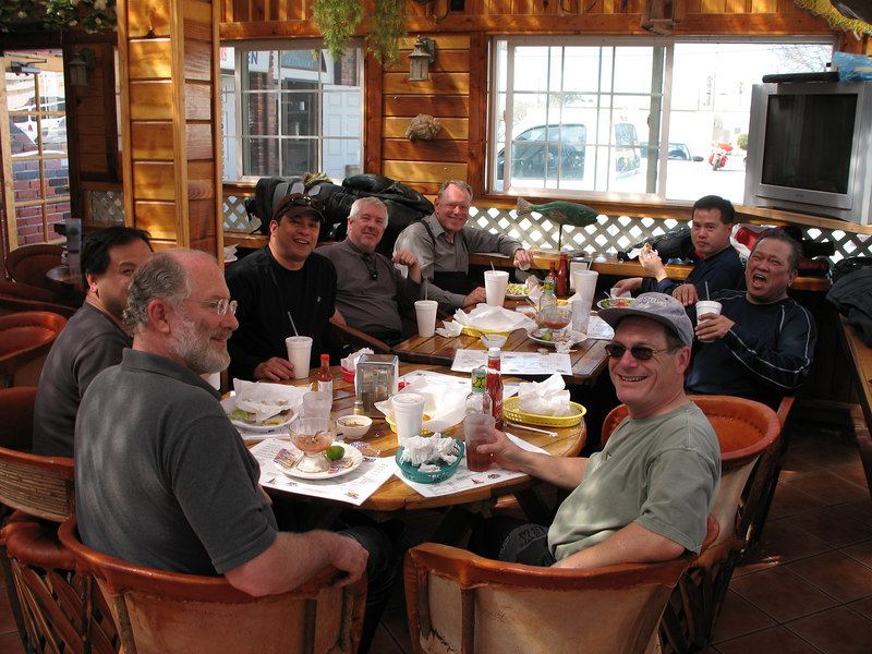 Happy campers following a relaxing lunch in King City