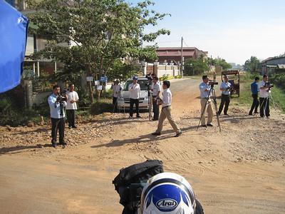 TV news crew.