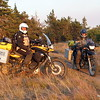 David and Lawrence on his F650GS arrive in camp.