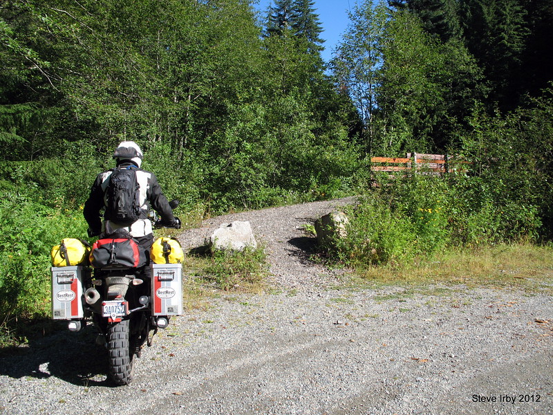 Off of Hwy 2 onto the old Cascade Highway route.  This road requires crossing the footbridge over the Skykomish river headwaters to follow the old paved two-lane up to the summit of Stevens Pass.<br /> Mr. Bestrest, David Petersen leads the way.
