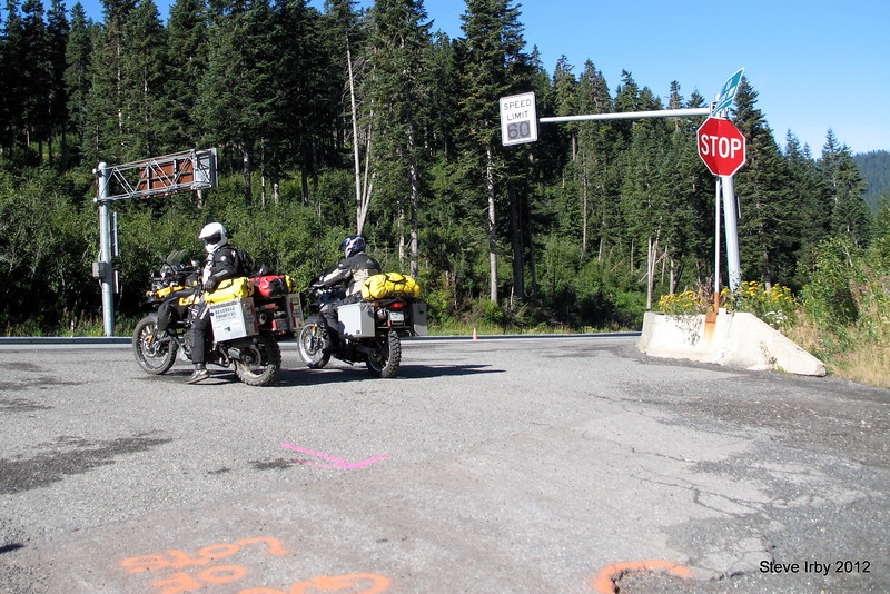 Arriving at the summit of Stevens Pass