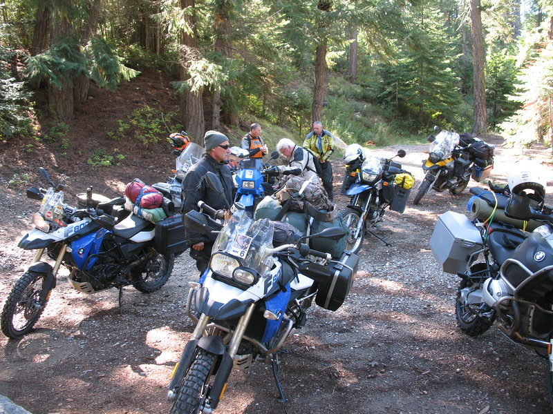 At the Chiwawa River we stopped to air-down and ready the bikes for the dirt. Smithbrook road was closed due to a timber sale or something so we slabbed it to  Lake Wenatchee and the beginning of the dirt near Chiwawa River.