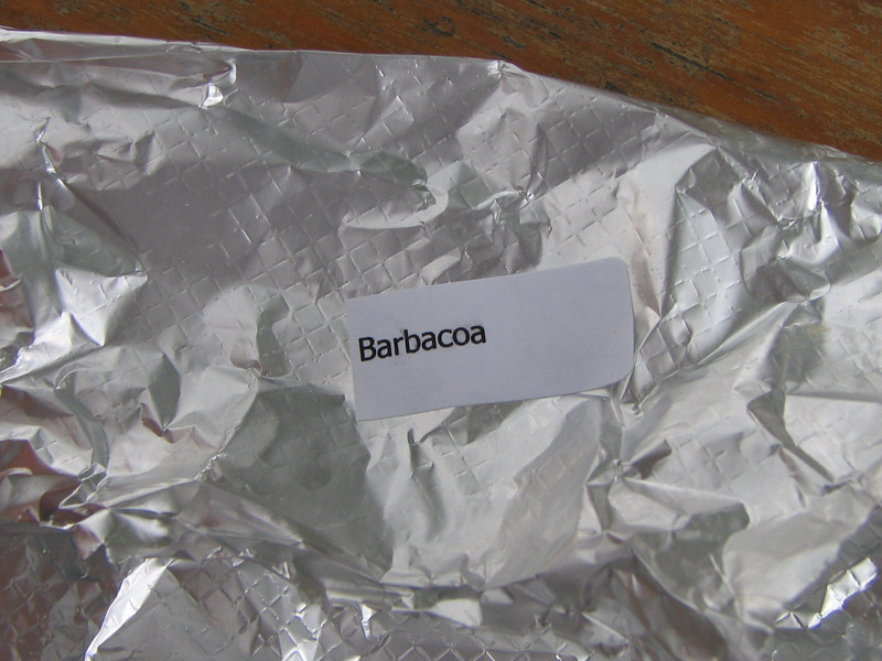 Barbcoa means really good spicy meat. ;>)