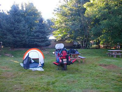 Camp in Northern Cascades