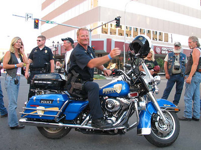 Officer Myers on one of the 2 new Harleys 2006-07-01 20:00