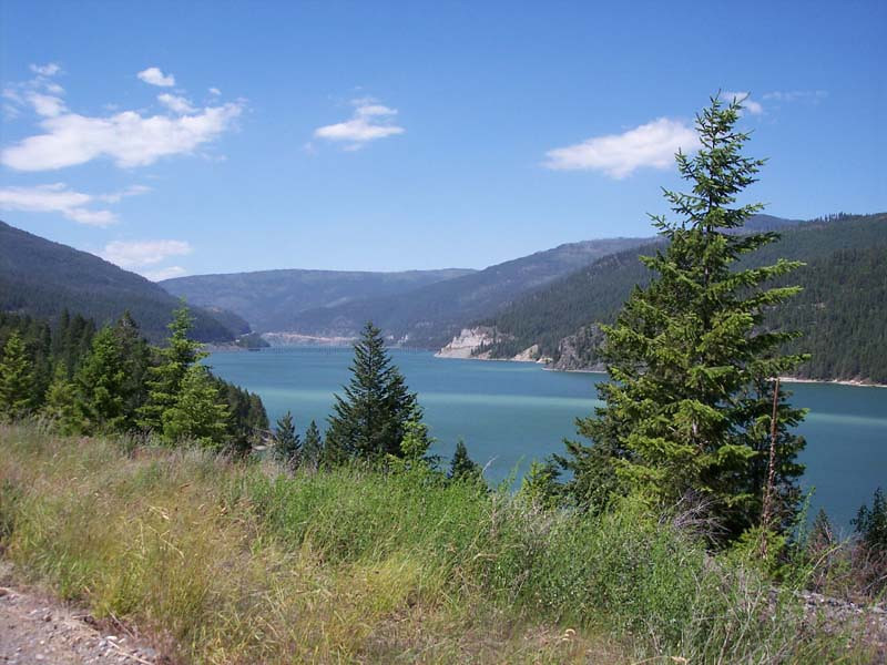 Lake Kocanusca, MT...  Short distance from the POE into the US.