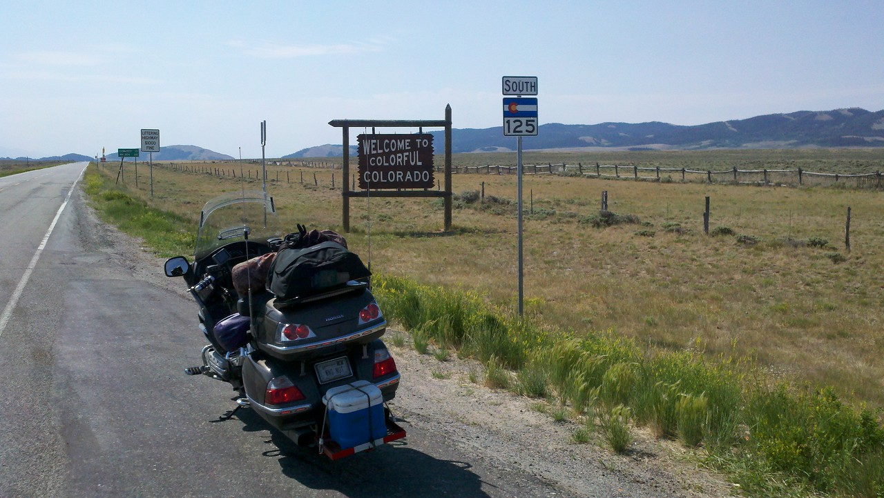 CO WY border