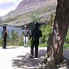 Jeanne & Dale about to be photographed by Tim, St Mary Lake, Glacier Park, MT