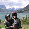Mimi & Tim at St Mary Lake, Glacier Park, MT