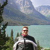 Tom at St Mary Lake, Glacier Park, MT