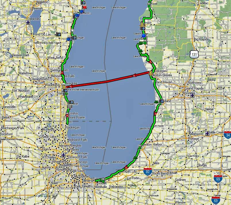 CannonTracks Lake Michigan Circle Tour Adventure Rider - Lake michigan circle tour map