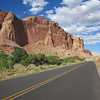 It would be a great ride if not for the traffic.  Capitol Reef scenic drive is a lonely road this time of year.  We're lucky to have gotten a break from the heat owing to a cold front that had moved through.