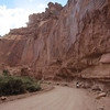 We find some time to drive down into the Grand Wash.  This secondary road terminates into a parking area that begins the Cassidy Arch Trail.  Named after the outlaw Butch Cassidy.