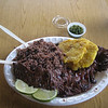 Or course I had to show the food....I ordered Churasco (flank steak). Quite tasty. Black beans & rice with tostones. mmmmmmm.  This was the house favorite so I figgered I'd give it a try. Mmm hmm.