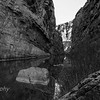 Black and White.  Canyon gets even narrower once you reach the end of the trail