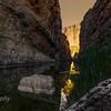 The Rio Grande, which meanders through this portion of the Chihuahuan Desert, has cut deep canyons with nearly vertical walls through cliffs made primarily of limestone.