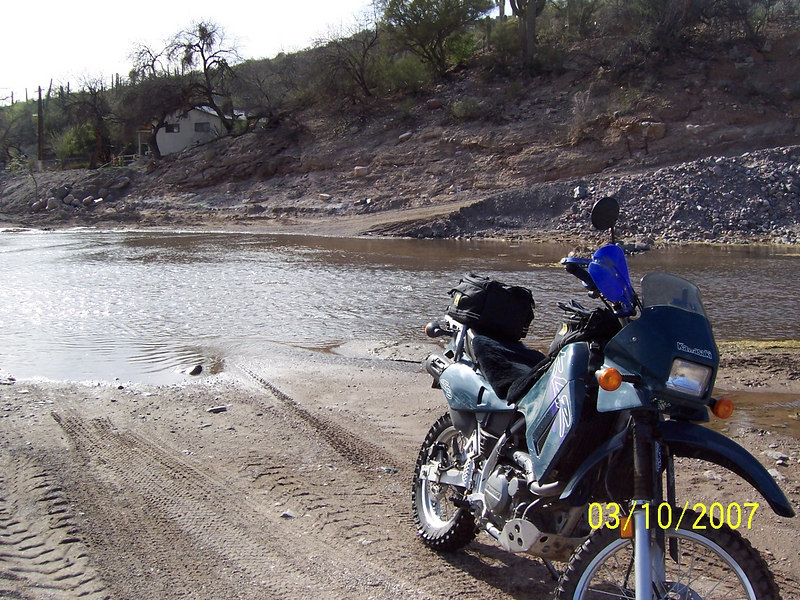 I decided to ride a spur trail across the creek.