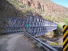 I decided to take a ride along Aravaipa Creek. The road leaves AZ HWY 77 in the town of Aravaipa and takes you past Central Arizona College.  The road turns to dirt within a few miles. Arivaipa Creek flows most of te year. There is this single-automobile-wide bridge along the way to the Arivaipa Canyon trailhead. Arivaipa Canyon is a wilderness area with restricted access. The BLM only allows 30 people in each day by permit only.