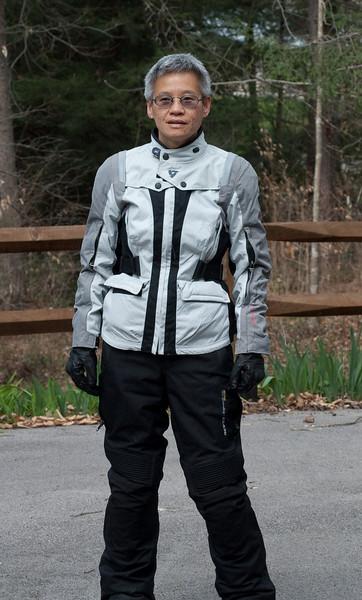 Lisa in Rev'it Ventura jacket