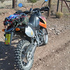 Jay's new-to-him KTM packed up and ready to go. The route was the Madera trails which roughly parallel I-25, but east of the Sandia Mountains