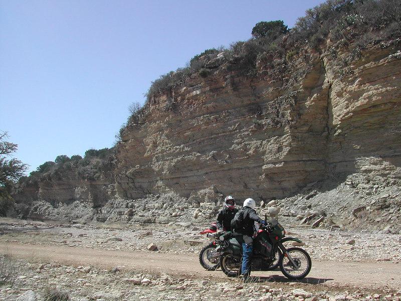 A canyon along James River Road...
